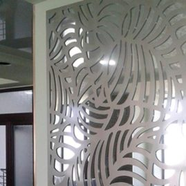 Ажурная 3D МДФ панель в интерьере ресторана