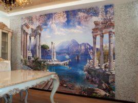 Фреска Applico в обрамлении мозаики из натурального камня