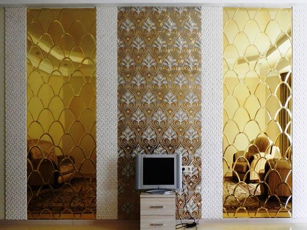 Фацетные зеркала в сочетании с мозаикой в интерьере, Архистиль, Бишкек