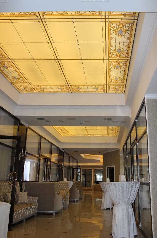 Натяжной потолок в отеле Jannat, Бишкек