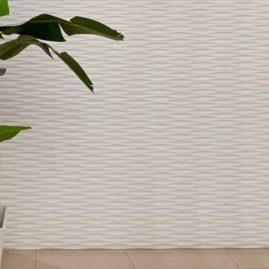 Светлые 3D МДФ панели в домашнем интерьере