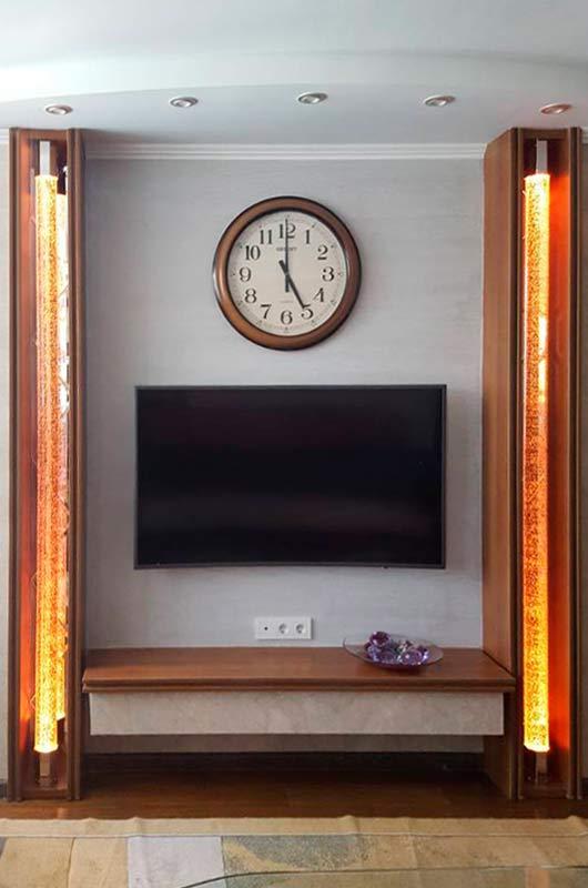 Огненные световые колонны в гостиной, Архистиль, Бишкек