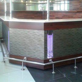 Оформление барной стойки световыми панелями