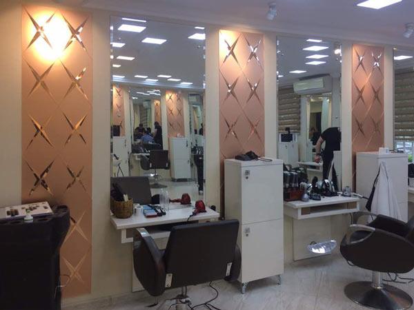 Фацетные зеркала в интерьере салона Шарм, Архистиль, Бишкек
