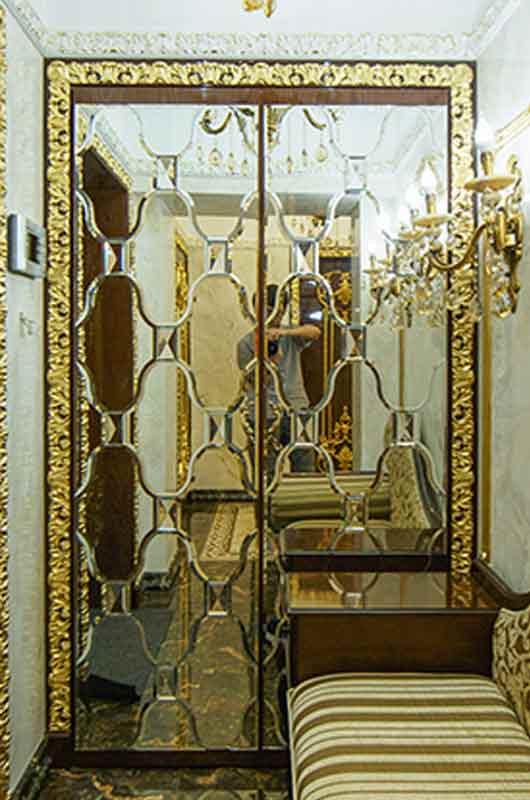 Зеркальная панель в элитной квартире, Архистиль, Бишкек