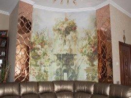 Фреска в сочетании с фацетными зеркалами