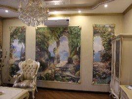 Фрески в интерьере гостинной