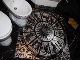 Керамогранитный ковер в ванной
