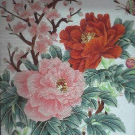 Мозаичное панно «Цветы 03»