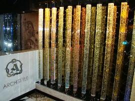 Световые колонны в офисе компании «Архистиль»