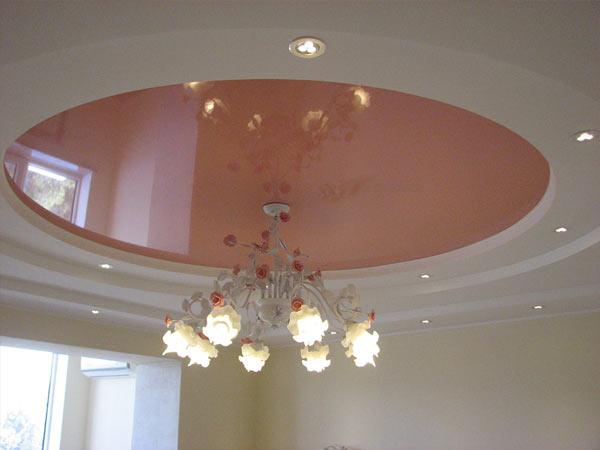 Натяжной потолок в спальне, Архистиль, Бишкек