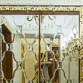 Зеркальная панель в интерьере элитной квартиры