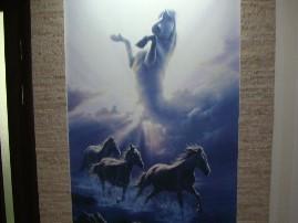 Фреска «Лошади»