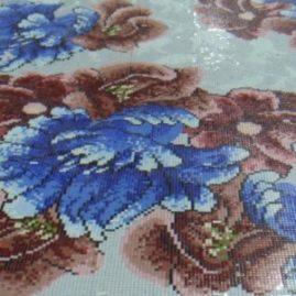 Мозаичное панно «Цветы 07»