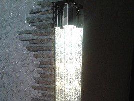 Световые колонны в экстерьере