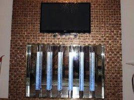Световые колонны в сочетании с мозаикой