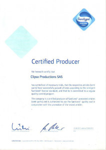 Certified Producer of Clipso Production SAS